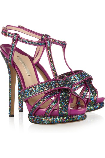 Nicholas Kirkwood Glitter Patent Leather Pumps picture from net-a-porter.com