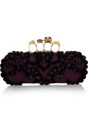 Alexander McQueen Knucle Embellished Brocade Clutch picture from bergdorfgoodman.com