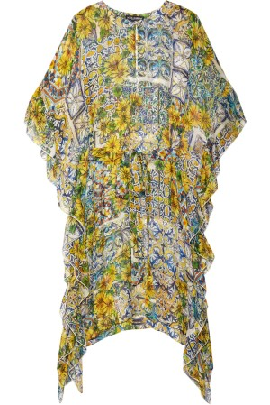 Dolce and Gabbana Silk-Chiffon Kaftan picture from net-a-porter.com