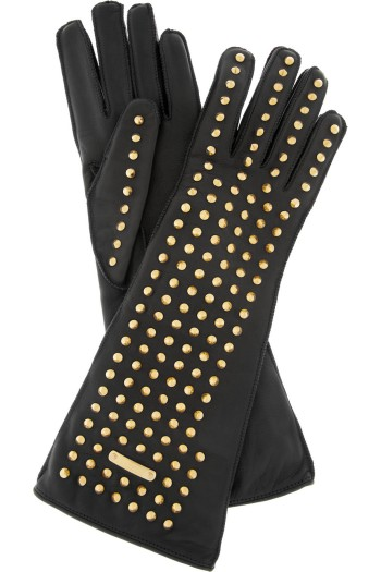 Burberry Prorsum Studded Leather Gloves picture from burberry.com