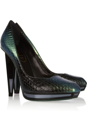 Yves Saint Laurent Metallic Elaphe Pumps picture from saksfifthavenue.com