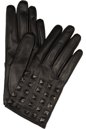 Valentino Rockstud Leather Gloves picture from saksfifthavenue.com