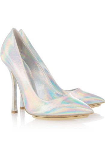 Stella McCartney Holographic Faux Leather Pumps picture from stellamccartney.com