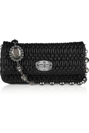 Miu Miu Crystal Matelasse Leather Bag picture from miumiu.com