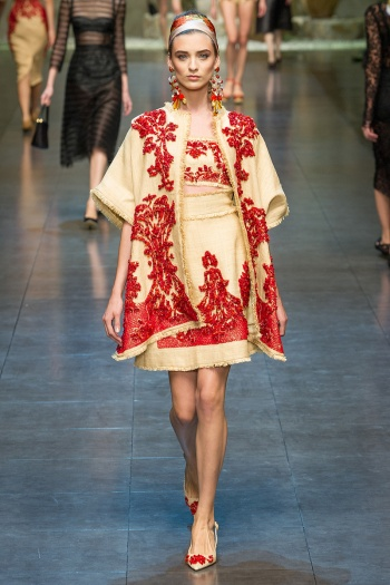 Dolce and Gabbana Spring 2013 Runway picture from vogue.com