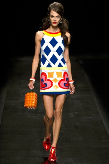 Moschino Spring 2013 Runway picture from vogue.com
