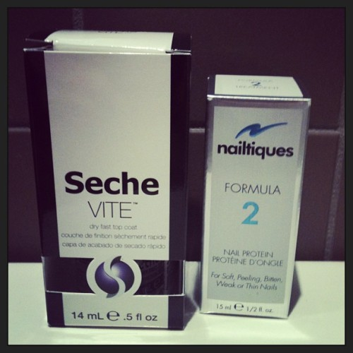 From base to top- Seche top coat & Nailtiques nail treatment