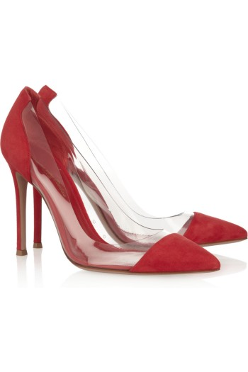 Gianvito Rossi Suede and PVC Pumps picture from net-a-porter.com