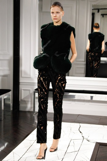 Balenciaga Fall 2013 Runway picture from vogue.com