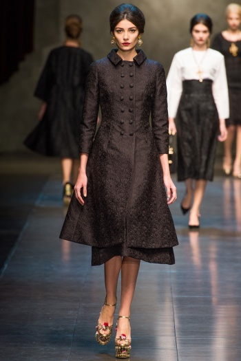 Dolce and Gabbana Fall 2013 Runway picture from vogue.com