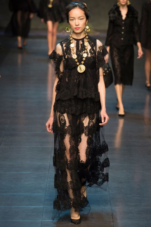 Dolce and Gabbana Spring 2014 Runway picture form vogue.com
