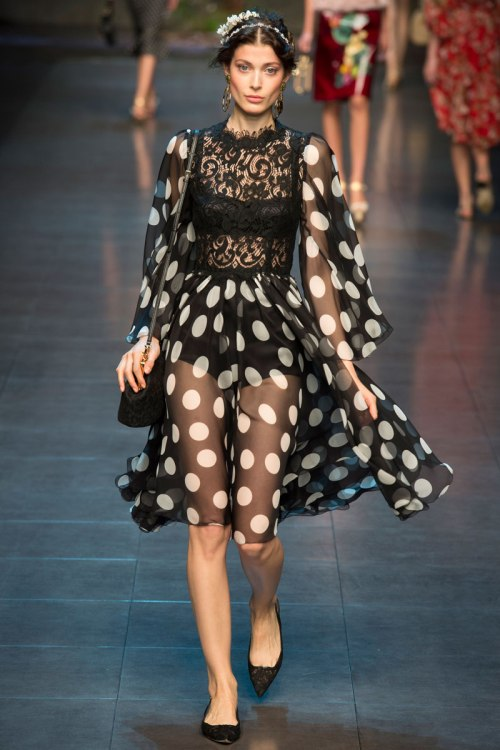 Dolce and Gabbana Spring 2014 Runway picture from vogue.com