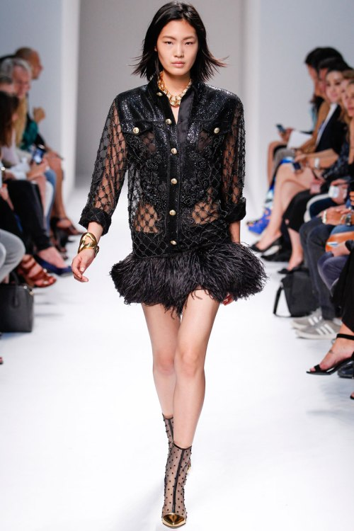 Balmain Spring 2014 Runway picture from vogue.com