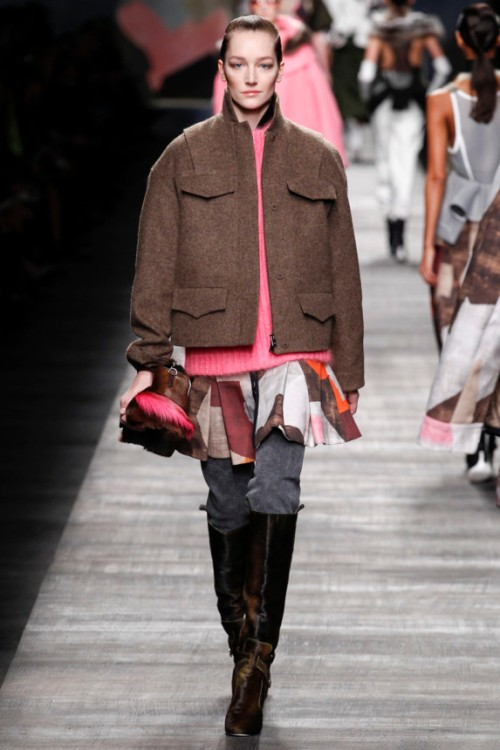 Fendi Fall 2014 Runway picture from vogue.com