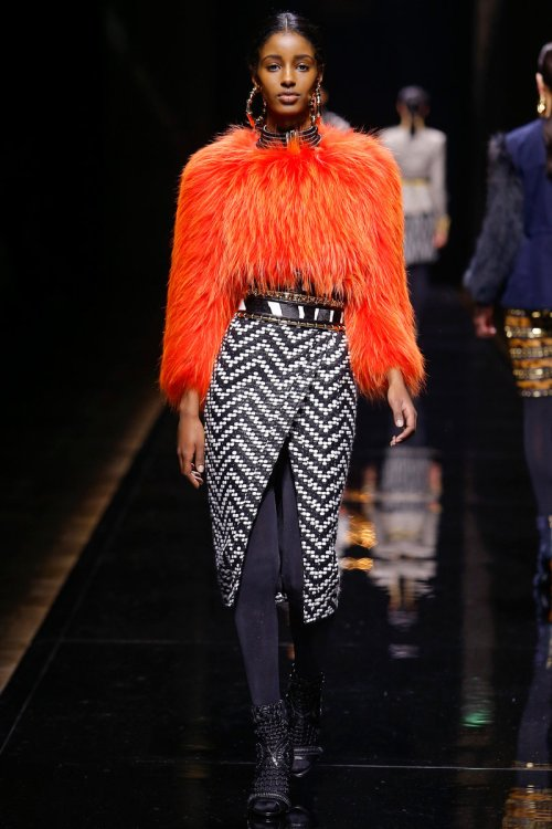 Balmain Fall 2014 Runway picture from vogue.com