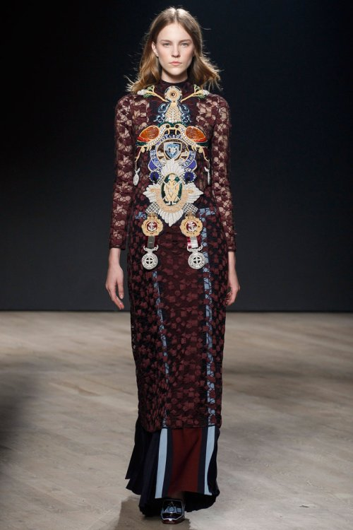 Mary Katrantzou Fall 2014 Runway picture via vogue
