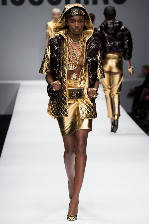 Moschino Fall 2014 Runway picture via vogue