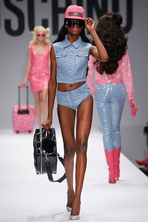 Moschino Spring 2015 Runway picture via vogue