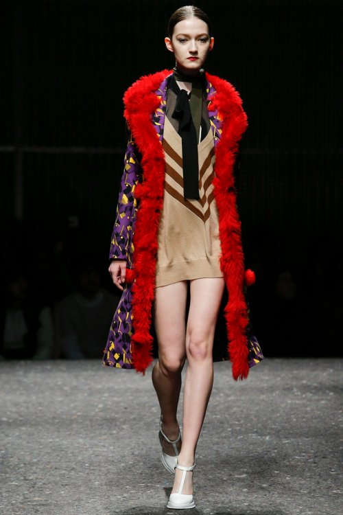 Prada Fall 2014 Runway picture via vogue
