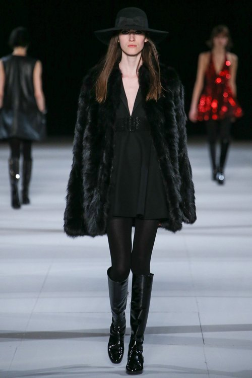 Saint Laurent Fall Runway picture via vogue