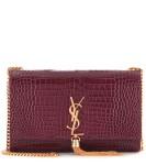 Saint Laurent Embossed Leather Shoulder Bag